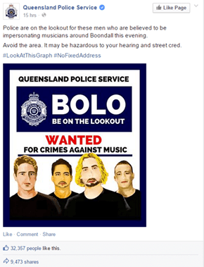 One Australian Police Department Puts Out an APB on the Sonic Criminals Nickelback Playing Nearby