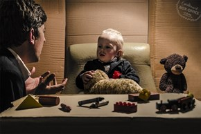 Classic Movie Scenes Recreated With Cardboard and a Baby