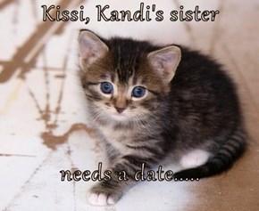 Kissi, Kandi's sister  needs a date.....