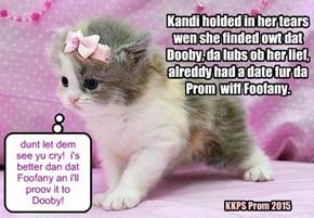 Teeny Skolar Kandi wunts to go to Prom wiff Dooby!