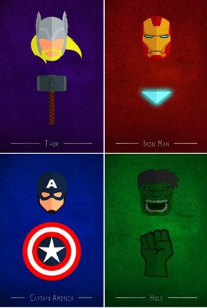The Avengers Minimalist Posters