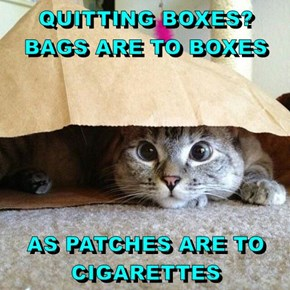 QUITTING BOXES? BAGS ARE TO BOXES  AS PATCHES ARE TO CIGARETTES