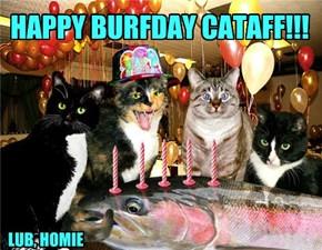 HAPPY BURFDAY CATAFF!!!