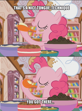 Baking With Pinkie is Always Fun