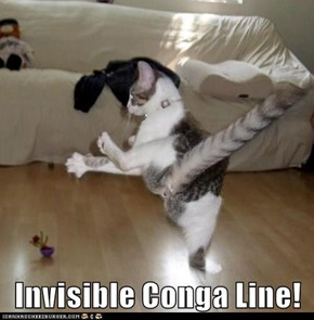 Invisible Conga Line!