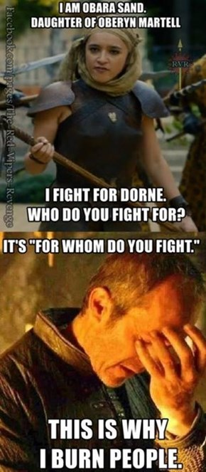 Stannis Remains Grammar King of the Seven Kingdoms