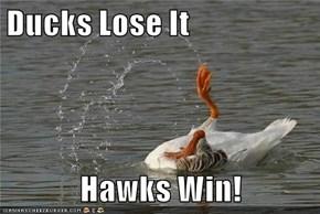 Ducks Lose It  Hawks Win!