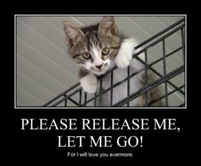 PLEASE RELEASE ME, LET ME GO!