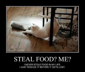 STEAL FOOD? ME?