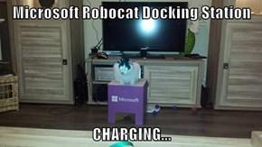 Microsoft Robocat Docking Station  CHARGING...