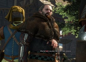 That Conversation had Real Award Winning Dialog and Geralt Ruined it