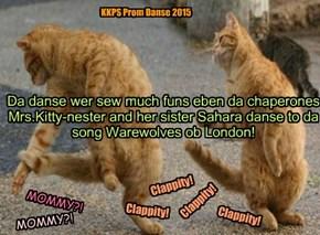 Sisters Mrs.Kitty-Nester and Sahara danse at da Prom!