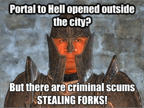 Guards in Oblivion Have Their Priorities in Order