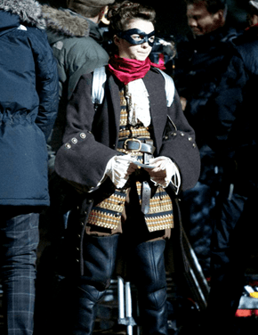 Maisie Williams on the Set of Doctor Who