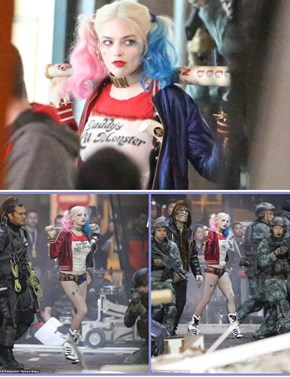 Margot Robbie's Harley Quinn Spotted on The Set of Suicide Squad