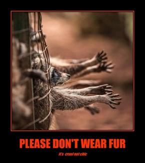 PLEASE DON'T WEAR FUR