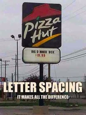 Spacing is important
