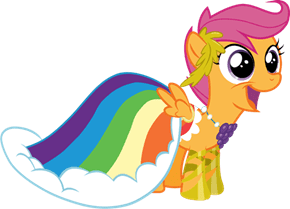 Scootaloo Dresses Like Her Hero