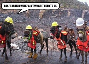 "BOY, ""FASHION WEEK"" AIN'T WHAT IT USED TO BE."