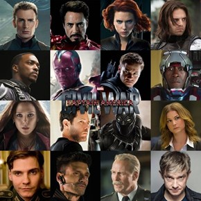 Captain America: Civil War Has a Giant Cast