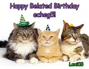 Happy Belated Birthday echeg5!