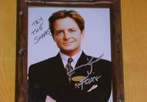 Michael J. Fox With the Cheeky Autograph