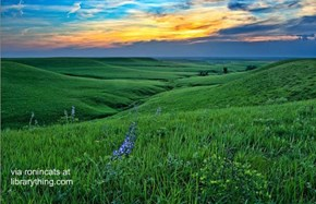 Stunning Sunset in the Flint Hills of Kansas