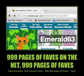 999 PAGES OF FAVES ON THE NET, 999 PAGES OF FAVES