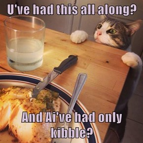 U've had this all along?  And Ai've had only kibble?