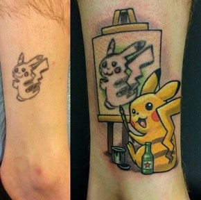 Drunk Pikachu Paints a Better Self Portrait Than I Could