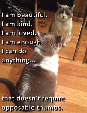 I am beautiful.                             I am kind.                                           I am loved.                                                                    I am enough.                                                        I can do