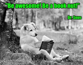"""Be awesome! Be a book nut!"""