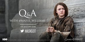 Maisie Williams Did a Twitter AMA for the Game of Thrones Finale