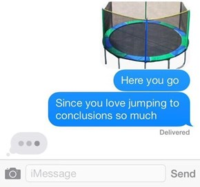 How To Stop An Text Argument With Just an Image of Trampoline