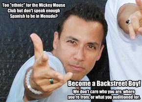Become a Backstreet Boy!