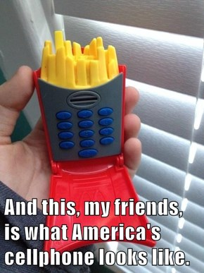 And this, my friends, is what America's cellphone looks like.