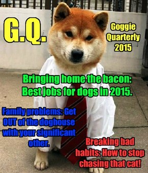 The premier issue of G.Q. (Goggie Quarterly)