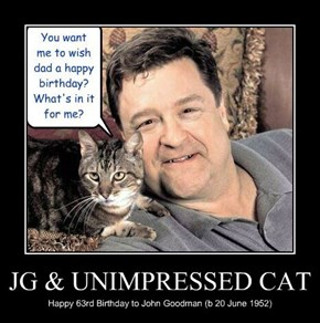 JG & UNIMPRESSED CAT