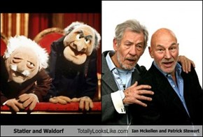 Statler and Waldorf Totally Looks Like Ian Mckellen and Patrick Stewart