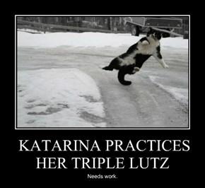 KATARINA PRACTICES HER TRIPLE LUTZ