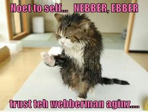 Noet to self...   NEBBER, EBBER  trust teh webberman aginz....
