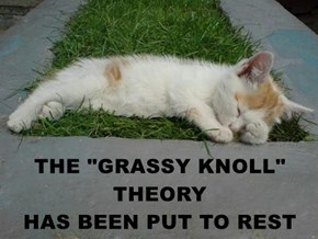 "THE ""GRASSY KNOLL"" THEORY                           HAS BEEN PUT TO REST"