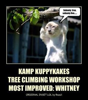 KAMP KUPPYKAKES TREE CLIMBING WORKSHOP MOST IMPROVED: WHITNEY