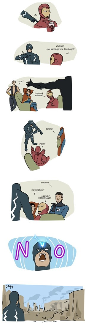 Black Bolt is Trying to Tell You Something