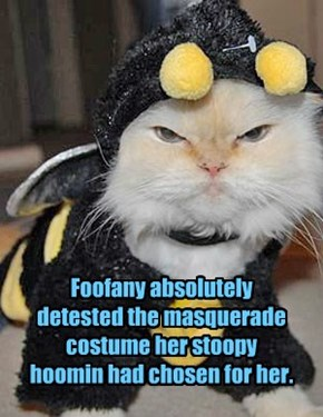 Foofany absolutely detested the masquerade costume her stoopy hoomin had chosen for her.