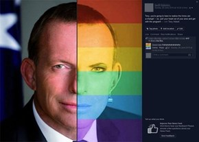 A blunt message to the Australian Prime Minister through social media.