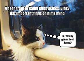 Train ride to Kamp Kuppykakes