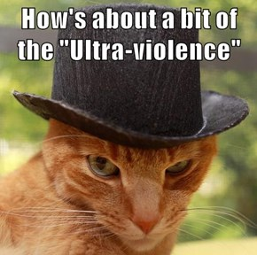 "How's about a bit of the ""Ultra-violence"""