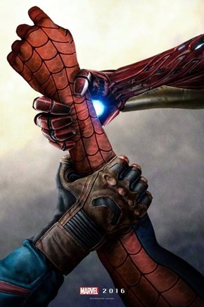 Awesome Civil War Fan Poster Fights Over Spider-Man