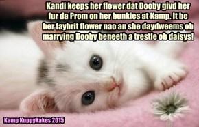 Kandi lubs Dooby at Kamp KuppyKakes!
